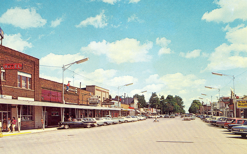 Crawford Grayling Mi Great Downtown Main Street View early… | Flickr
