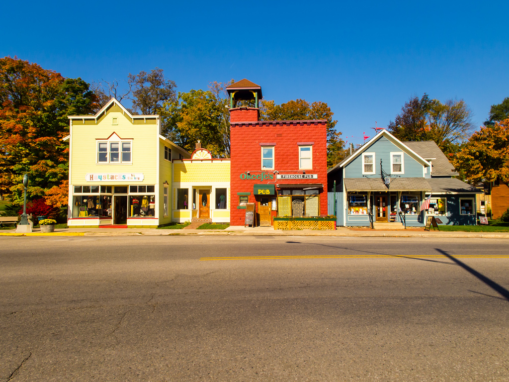 Suttons Bay, Michigan | Along Saint Josephs Street in Sutton…
