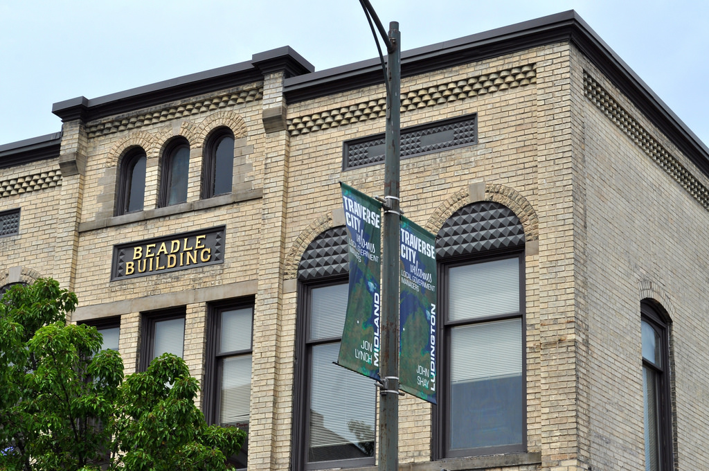 Beadle Building and Traverse City Banner in Traverse City … | Flickr